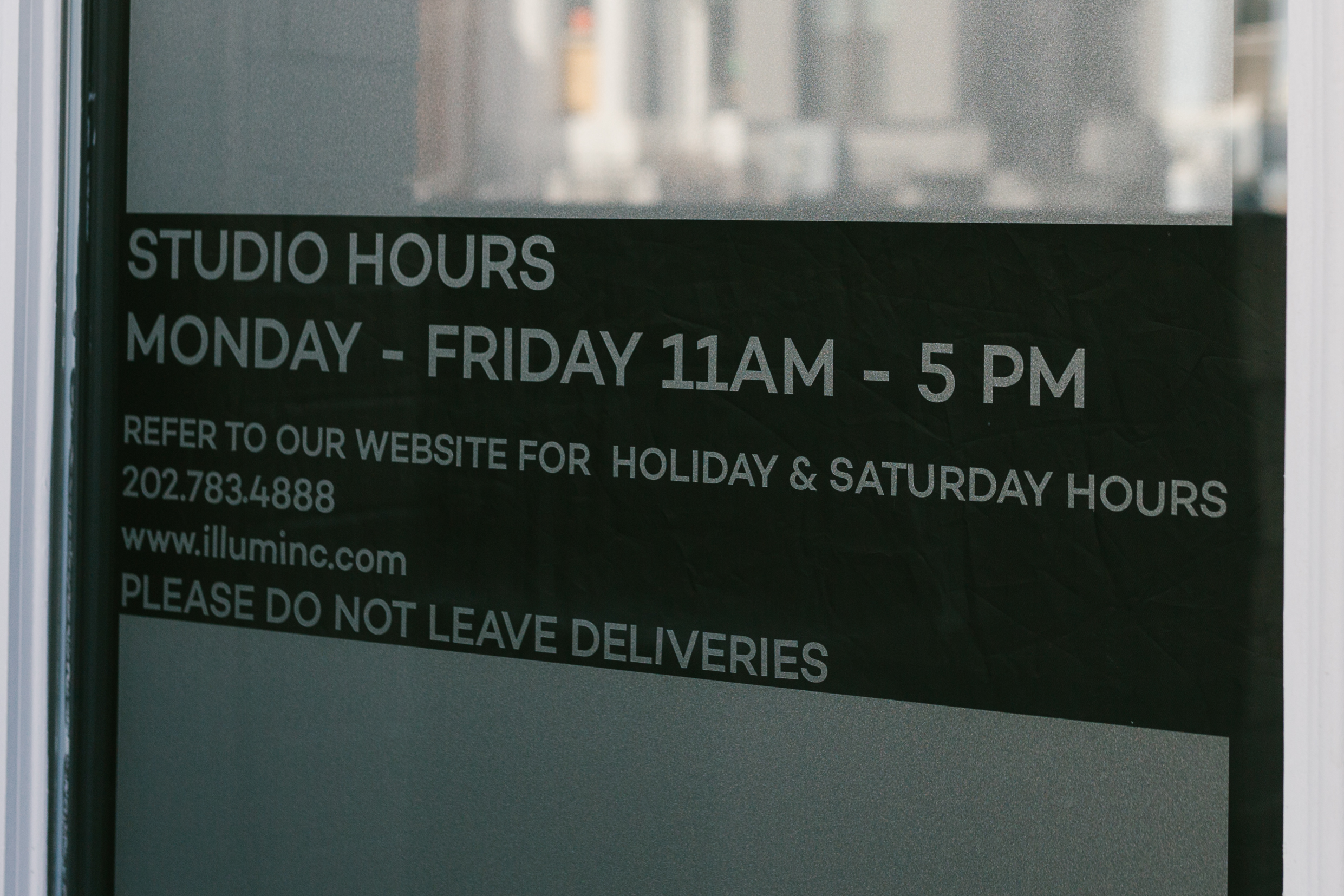 Illuminations studio hours sign